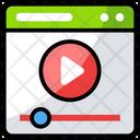Web Video Internet Marketing Internet Videos Icon
