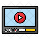 Online Video Tutorials Video Streaming Live Streaming Icon