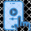 Video Player Smartphone Lesson Icon