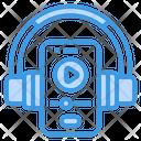 Video Player Smartphone Headphone Icon