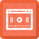 Online Video Webpage Icon