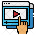 Video Player Hand Icon