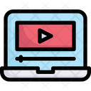 Network Communication Video Player Icon
