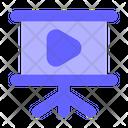 Video Presentation Presentation Board Board Icon