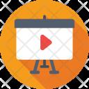 Video Presentation Media Icon