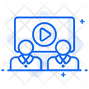 Video Presentation Video Lecture Video Conference Icon