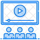 Video Presentation Video Lecture Business Training Icon