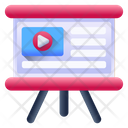 Ppt Presentation Video Presentation Powerpoint Presentation Icon