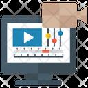 Video Production Digital Marketing Filmmaking Icon