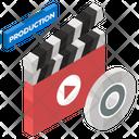 Video Production Clapperboard Slat Board Icon
