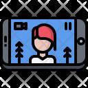 Video Recording Phone Icon