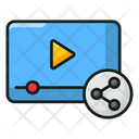 Video Sharing Video Streaming Media Share Icon