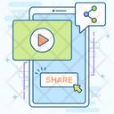 Video Content Video Marketing Online Marketing Icon