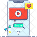Video Share Viral Video Mobile Video Icon