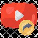 Video Share Video Forward Media Share Icon