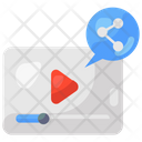 Video Share Media Share Social Media Icon