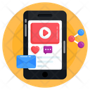 Video Content Video Share Mobile Video Icon