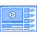 Video Web Player Icon