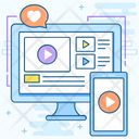 Video Stream Video Marketing Video Content Icon