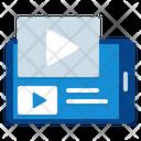 Video Stream Elearning Webinar Icon