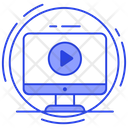 Video Player Video Streaming Video Watching Icon