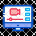 Video Screen Design Icon