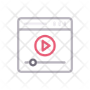 Video Player Seo Icon