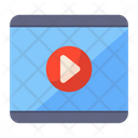 Video Streaming Watch Online Live Broadcast Icon