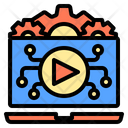 Video Clip Digital Learning Icon