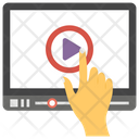Video Streaming Watching Video Online Video Icon