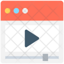 Video Streaming Player Icon