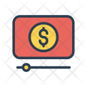 Video Streaming Dollar Icon