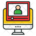 Video Learning Video Training Video Lecture Icon