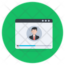 Video Training Webinar Web User Icon