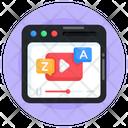 Language Tutorial Video Translation Video Language Learning Icon