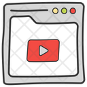 Online Video Multimedia Video Tutorial Icon