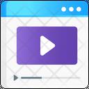 Video Tutorial Video Lesson Modern Education Icon