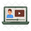 Online Lecture Video Lesson Video Lecture Icon