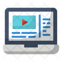 Laptop Live Streaming Online Streaming Icon