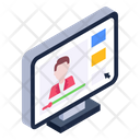 Video Learning Online Teacher Video Tutorial Icon