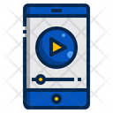 Smartphone Online Learning Training Icon
