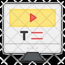 Video Tutorial Video Course Online Tutorial Icon