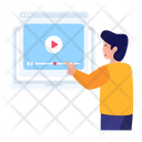 Video Lesson Video Tutorial Video Learning Icon