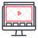 Computer Website Video Icon