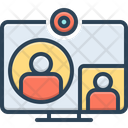 Videocall Computer Conference Icon