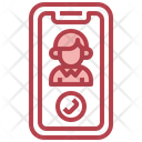 Videocall Technology Smartphone Icon