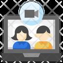 Videocall Laptop Electronics Icon