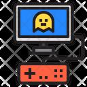 Videogame Player Entertainment Icon