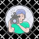 Videographer Girl Woman Icon