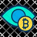 Bitcoin View Bitcoin Search Eye Icon
